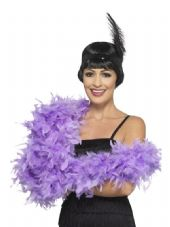 Deluxe Purple/Lilac Feather Boa